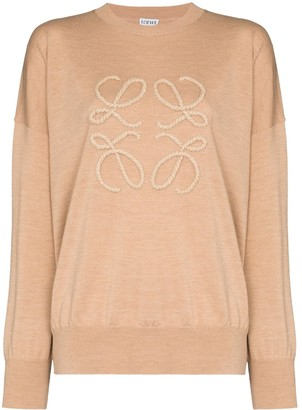 Loewe Anagram-embroidered knit jumper