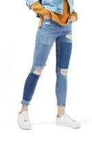 Topshop Women's Moto Jamie Rip Panel Skinny Jeans