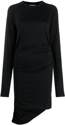 Lourdes Ruched Sweatshirt Dress