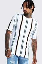 Knitted T-Shirt With Vertical Stripe