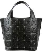 Alaia Embossed Studded Tote