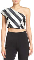 KENDALL + KYLIE Kendall & Kylie One Shoulder Stripe Blouse