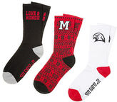 PINK Miami University 3-Pack Crew Socks