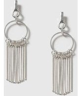 Dorothy Perkins Womens Silver Circle Stick Earrings- Silver