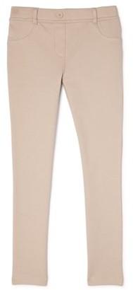 Wonder Nation Girls Plus School Uniform Stretch Ponte Knit Leggings, Sizes 8-20