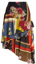 Preen Line Blossom Floral-print Asymmetric Tiered Skirt - Womens - Multi