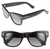 Tom Ford Women's 'Cary' 52Mm Polarized Sunglasses - Black/ Smoke Polarized
