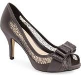 Menbur 'Liatris' Lace Inset Bow Peep Toe Pump (Women)