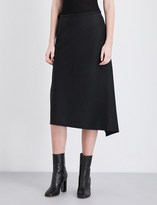 Y's YS Asymmetric high-rise wool skirt