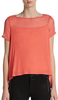 Elizabeth and James Downing Short-Sleeve Boxy Top