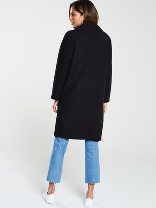 Very Single Breasted Coat - Black