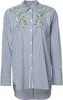 ADAM by Adam Lippes embroidered flowers striped shirt