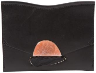 Proenza Schouler Curl Black Leather Clutch bags