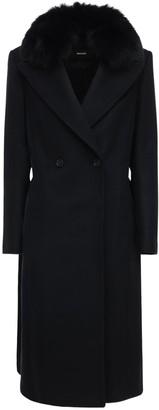 Mackage Sienna-bx Wool Blend Jacket W/ Fur