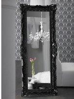Ruffle Edge Mirror - Floor - High Gloss Black