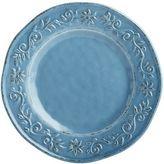 Pier 1 Imports Tuscan Scroll Blue Melamine Dinner Plate