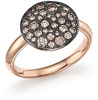 Pomellato Sabbia Ring with Brown Diamonds in Burnished 18K Rose Gold