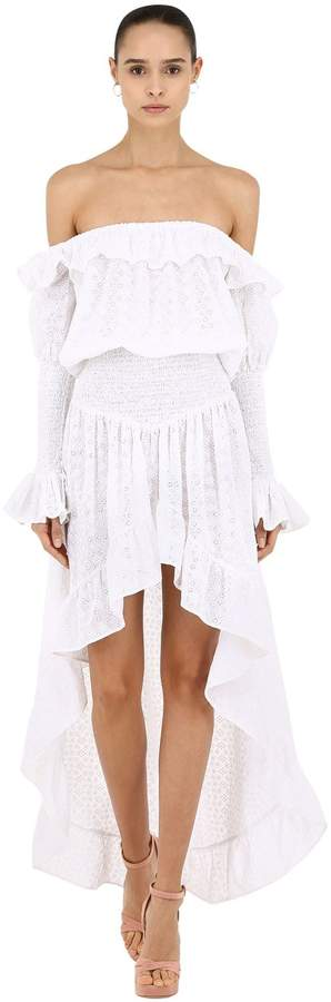 Capelli of New York Cc By Camilla Off-the-shoulder Cotton Lace Dress