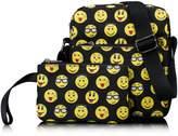 Tibes Cute Waterproof Backpack Funny Emoji Schoolbag for Kids Black