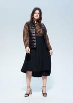 MANGO Violeta BY Quilted zipper gilet black - M - Plus sizes