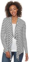 So Juniors' SO Waterfall Open-Front Cardigan