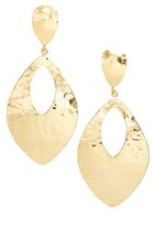 Argentovivo Women's Hammered Drop Earrings