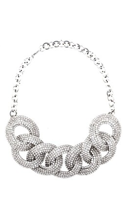 Alessandra Rich Embellished Chain Necklace