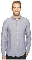 Nautica Long Sleeve Resort Solid Linen Men's Clothing