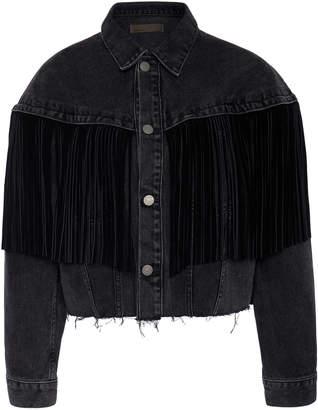 GRLFRND Denim Freya Fringed Denim Jacket Size: XS