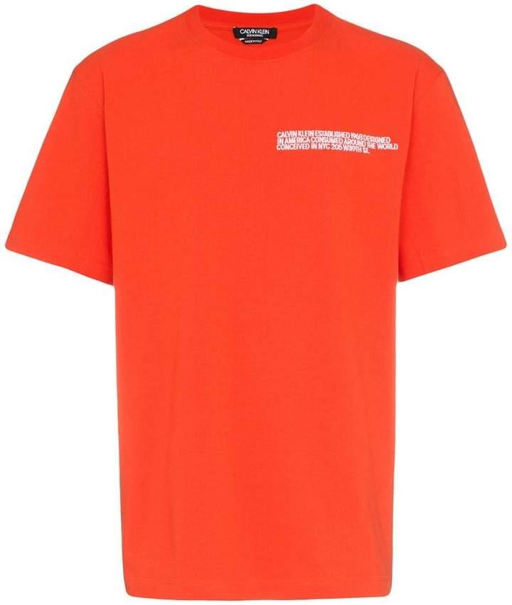 Calvin Klein logo address t-shirt