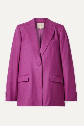 Roksanda Antalya Wool-blend Twill Blazer - Purple