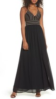 LuLu*s Women's Glamorous Gala Embellished Maxi Dress
