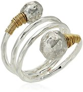 Robert Lee Morris Sculptural Bead Wrap Ring Size, 8.5