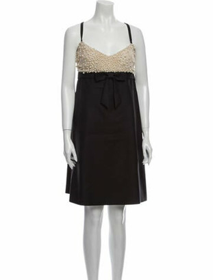 Valentino Fleece Wool Knee-Length Dress Wool