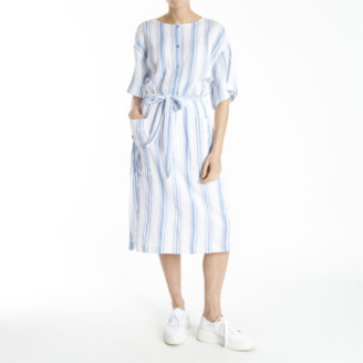Designers Society - Striped Dress with Belt & Pockets - medium