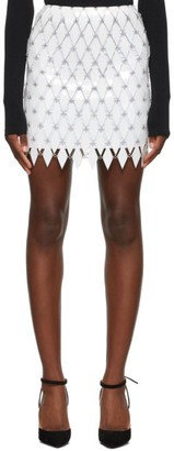 Paco Rabanne White Linked Diamond Disc Skirt