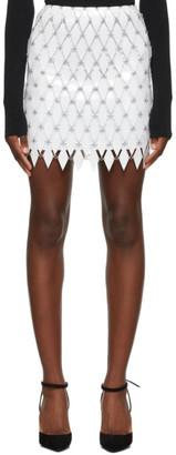 Paco Rabanne White Linked Diamond Disc Skirt