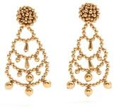Sonia Rykiel Beaded-drop clip-on earrings