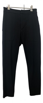Bassike Black Cotton Trousers for Women