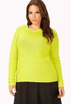 Forever 21 Plus Size Neon Pop Knit Sweater