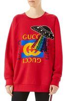 Gucci Oversize Sequin-Detail Logo Sweatshirt