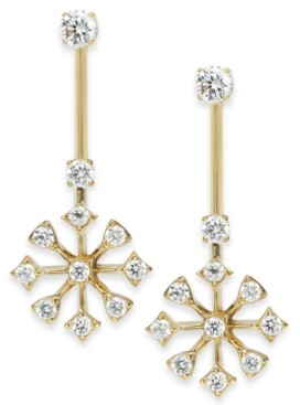 Eliot Danori Layla Snowflake Crystal Drop Earrings, Created for Macy's