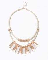 Charming charlie Stardusted Edge Statement Necklace