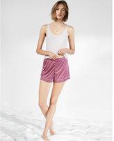 Express piped satin shorts
