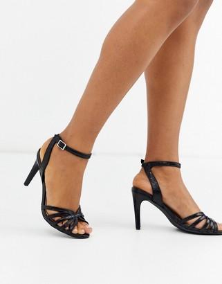 Vero Moda strappy heeled sandals-Black