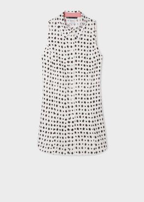 Paul Smith Women's White 'Stars' Print Sleeveless Shirt