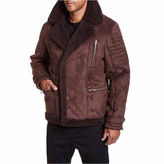 Excelled Leather Excelled Faux Shearling Asymmetrical Zip Jacket