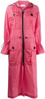 NO KA 'OI Zipped-Up Trench Coat