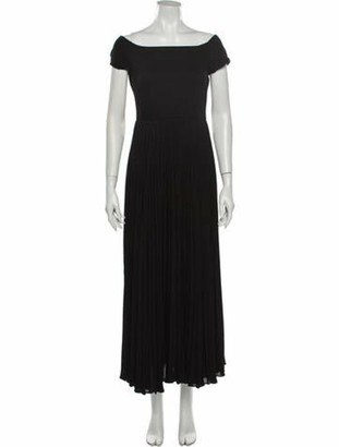 Alice + Olivia Off-The-Shoulder Long Dress Black
