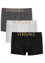 Versace Apollo Stretch Cotton Boxer Briefs - Set Of Three